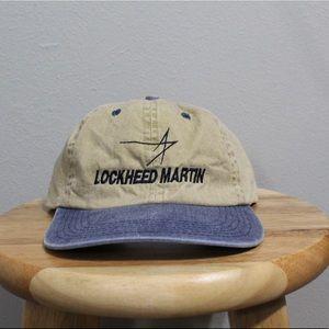 Vintage Lockheed Martin Denim Strapback Hat